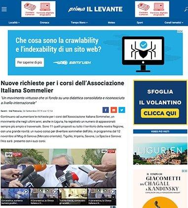 Nuove richieste per i corsi dell'Associazione Italiana Sommelier