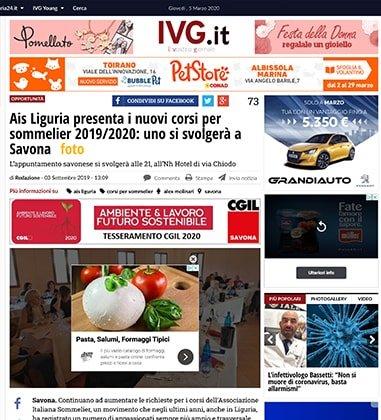 Ais Liguria presenta i nuovi corsi per sommelier 2019/2020: uno si svolgerà a Savona
