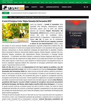 """A Lerici Il Prestigioso Trofeo """"Miglior Sommelier Del Vermentino 2019"""""""