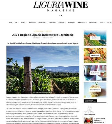 AIS e Regione Liguria insieme per il territorio