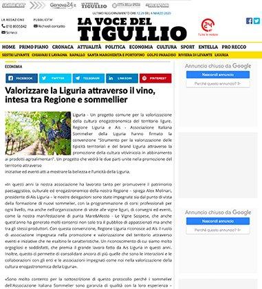Valorizzare la Liguria attraverso il vino, intesa tra Regione e sommellier