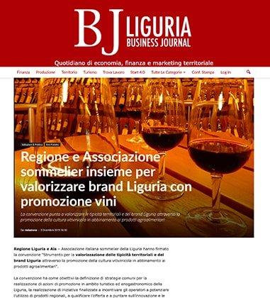 Regione e Associazione sommelier insieme per valorizzare brand Liguria con promozione vini