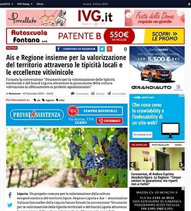 Ais e Regione insieme per la valorizzazione del territorio attraverso le tipicità locali e le eccellenze vitivinicole