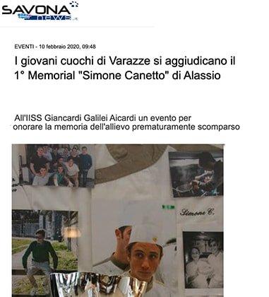 """I giovani cuochi di Varazze si aggiudicano il 1° Memorial """"Simone Canetto"""" di Alassio"""