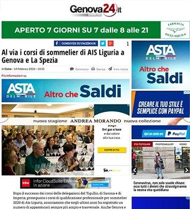 Al via i corsi di sommelier di AIS Liguria a Genova e La Spezia