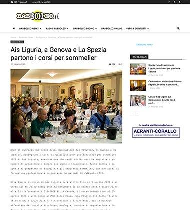 Ais Liguria, a Genova e La Spezia partono i corsi per sommelier