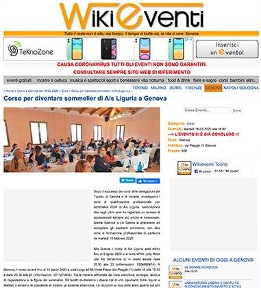 Corso per diventare sommelier di Ais Liguria a Genova