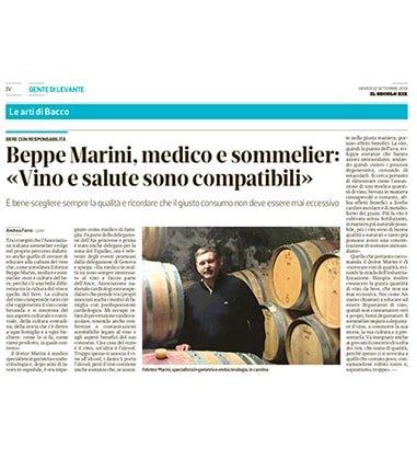 """Beppe Marini, medico e sommelier: """"Vino e salute sono compatibili"""""""
