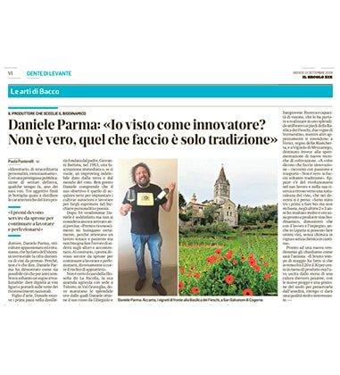 """Daniele Parma: """"Io visto come innovatore? Non è vero, quel che faccio è solo tradizione"""""""